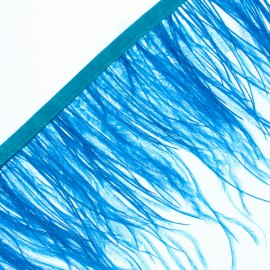 14 cm Ostrich Feather Ribbon - Turquoise Rio x 50cm