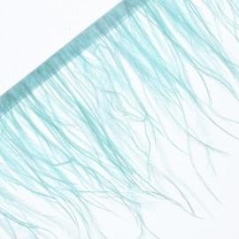 Galon Plumes d'Autruche Rio 14 cm - Vert d'Eau x 50cm