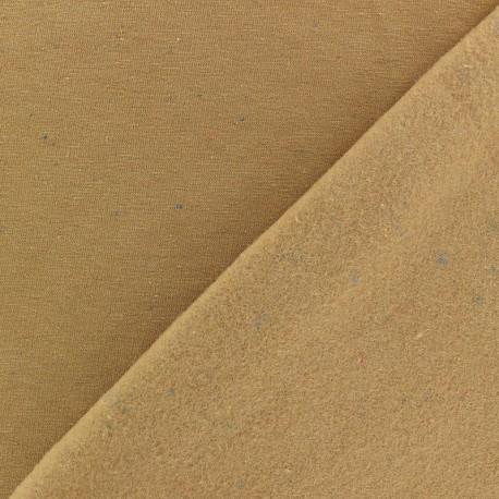Tissu sweat moucheté - citrouille x 10cm