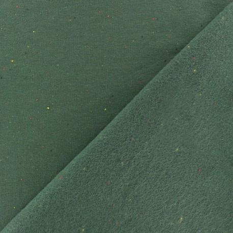 speckled sweatshirt fabric - camel  x 10cm