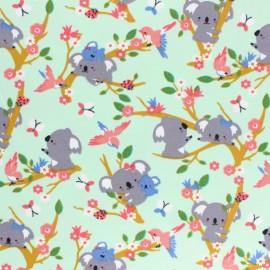 Poppy Jersey fabric - Green Koala Dream x 10cm