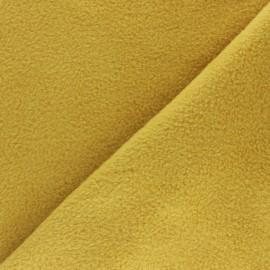 Tissu Polaire uni - jaune moutarde x 10cm