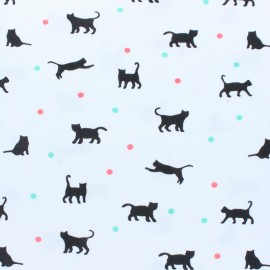 Cotton Jersey fabric - Black Jeux de balle x 10cm
