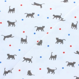 ♥ Coupon 150 cm X 150 cm ♥ Cotton Jersey fabric - Grey Jeux de balle