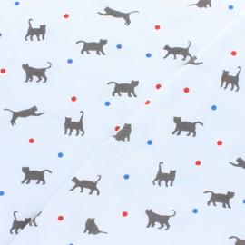 Cotton Jersey fabric - Grey Jeux de balle x 10cm