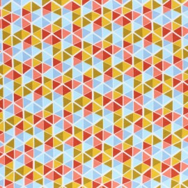 Tissu sweat Poppy Triangle Mosaic - multi x 10cm