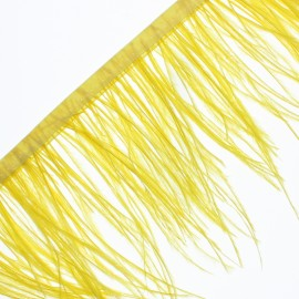 14 cm Ostrich Feather Ribbon - Yellow Rio x 50cm