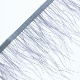 Galon Plumes d'Autruche Rio 14 cm - Gris x 50cm