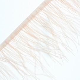 14 cm Ostrich Feather Ribbon - Peach Rio x 50cm