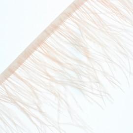 Galon Plumes d'Autruche Rio 14 cm - Pêche x 50cm