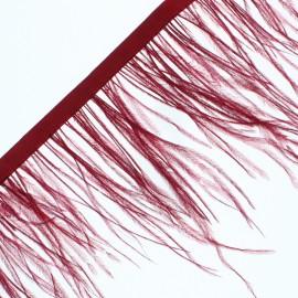 14 cm Ostrich Feather Ribbon - Garnet Rio x 50cm
