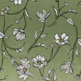 Embossed Satin Fabric - Green Elaganza x 10cm