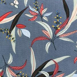 Viscose fabric - Blue Mombasa x 10cm