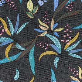 Viscose fabric - black Mombasa x 10cm
