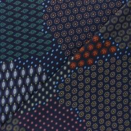Viscose fabric - Blue Carlotta x 10cm