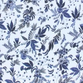 ♥ Coupon 45 cm X 140 cm ♥  Viscose fabric - Blue Olivia