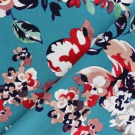 Viscose fabric - Blue Olivia x 10cm