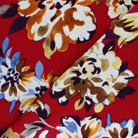 Viscose fabric - Blue Madeleine x 10cm