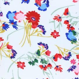 Viscose fabric - white Agatha x 10cm