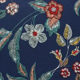 Tissu Viscose Trinité - bleu marine x 10cm