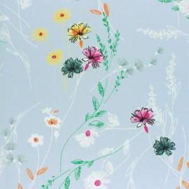 Tissu Polyester fluide Alésia - Noir x 10cm
