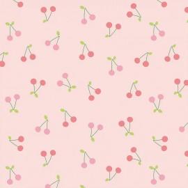 Primrose cotton fabric - Pink Sweet Cherries x 10 cm