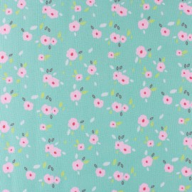 Tissu popeline Primrose Fabrics - In bloom - vert x 10 cm