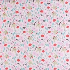 Tissu popeline Primrose Fabrics - Pink Cheeks - rose x 10 cm