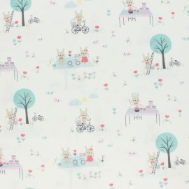 Tissu popeline Primrose Fabrics - Day Outside - écru x 10 cm