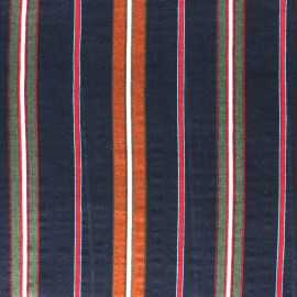 Cotton viscose voile Fabric - Navy Alexandrie x 10cm