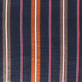 Tissu voile coton viscose Alexandrie - bleu x 10cm