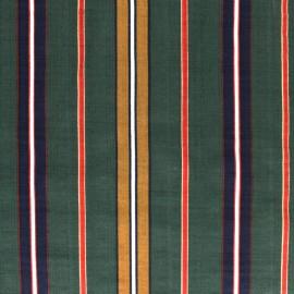 Cotton viscose voile Fabric - green Alexandrie x 10cm