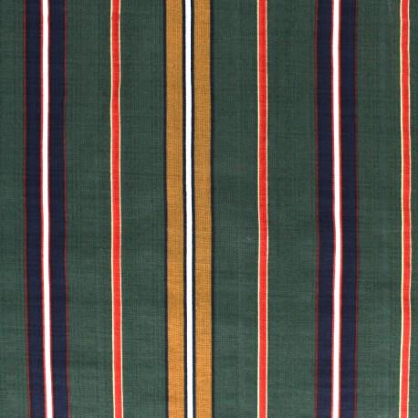 Tissu voile coton viscose Alexandrie - vert x 10cm