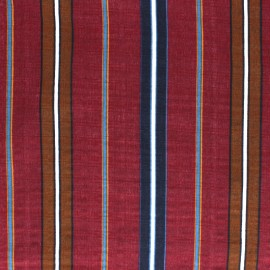 Cotton viscose voile Fabric - Burgundy Alexandrie x 10cm