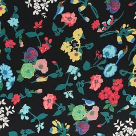 Polyester fabric - Navy blue Amélia x 10cm