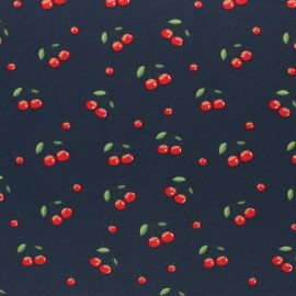 Stenzo Jersey cotton fabric - Blue Cherries x 10cm