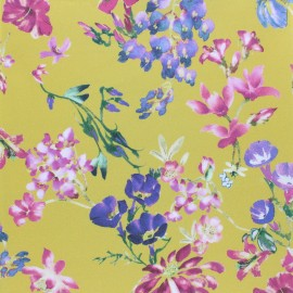 Tissu popeline stretch Jardin royal x 10cm
