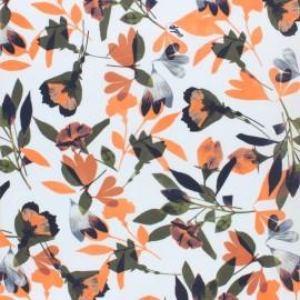 Tissu popeline stretch l'orangerie - écru x 10cm