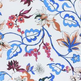 Stretch Poplin Fabric - Raw Royal Tapestry x 10cm
