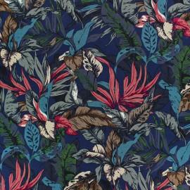 Stretch Poplin Fabric - Blue Maroni x 10cm