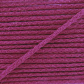 Cotton cord, color-fast - burgundy