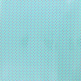 Petit pan coated cotton fabric - blue Mulino x 10cm