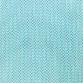 Tissu coton enduit Petit Pan Mulino - bleu cristallin x 10cm