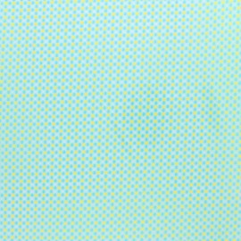 Petit pan coated cotton fabric - blue Ingo x 10cm