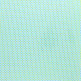 Tissu coton enduit Petit Pan Ingo - bleu cristallin x 10cm