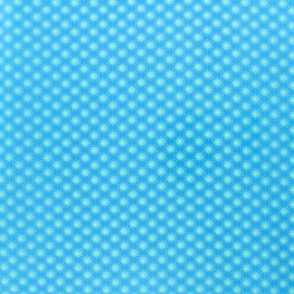 Petit pan coated cotton fabric - Aruba Blue Bubble x 10cm