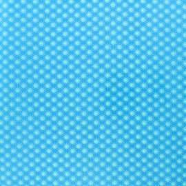 Tissu coton enduit Petit Pan Bubble - bleu Aruba x 10cm