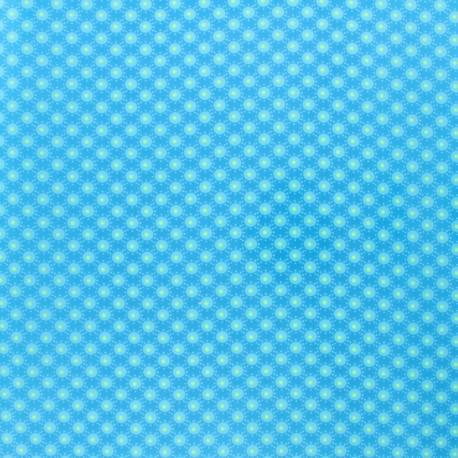 Petit pan coated cotton fabric - Aruba Blue Bubble x 10cm