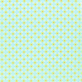 Petit pan coated cotton fabric - yellow Stella x 10cm