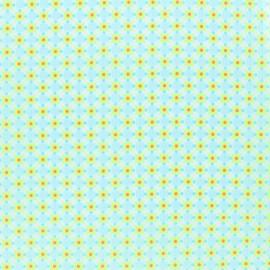 Tissu coton enduit Petit Pan Stella - jaune x 10cm